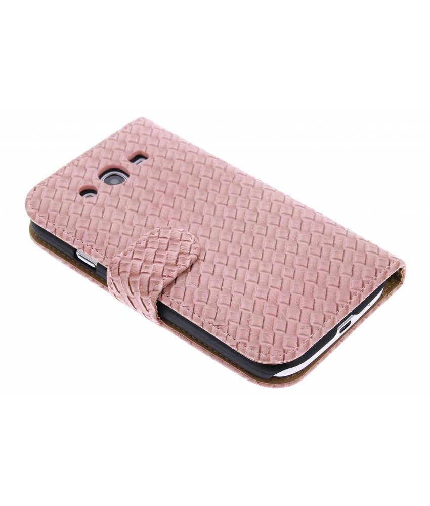Geweven booktype hoes Samsung Galaxy Grand (Neo)