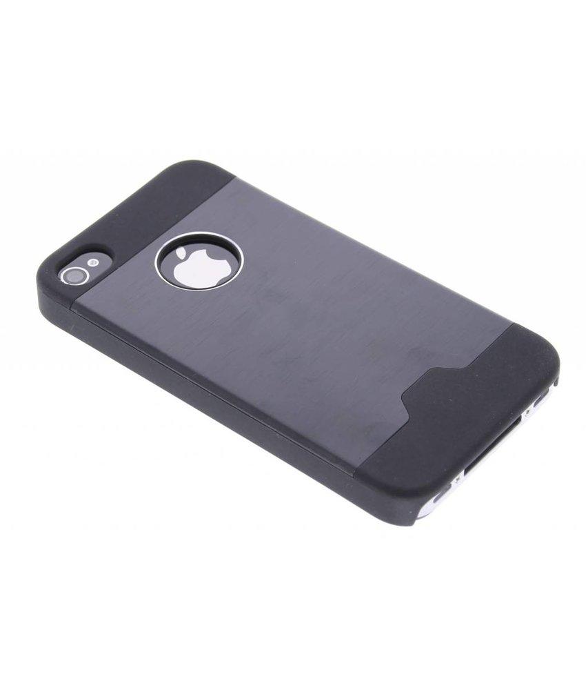 Zwart brushed aluminium hardcase iPhone 4 / 4s
