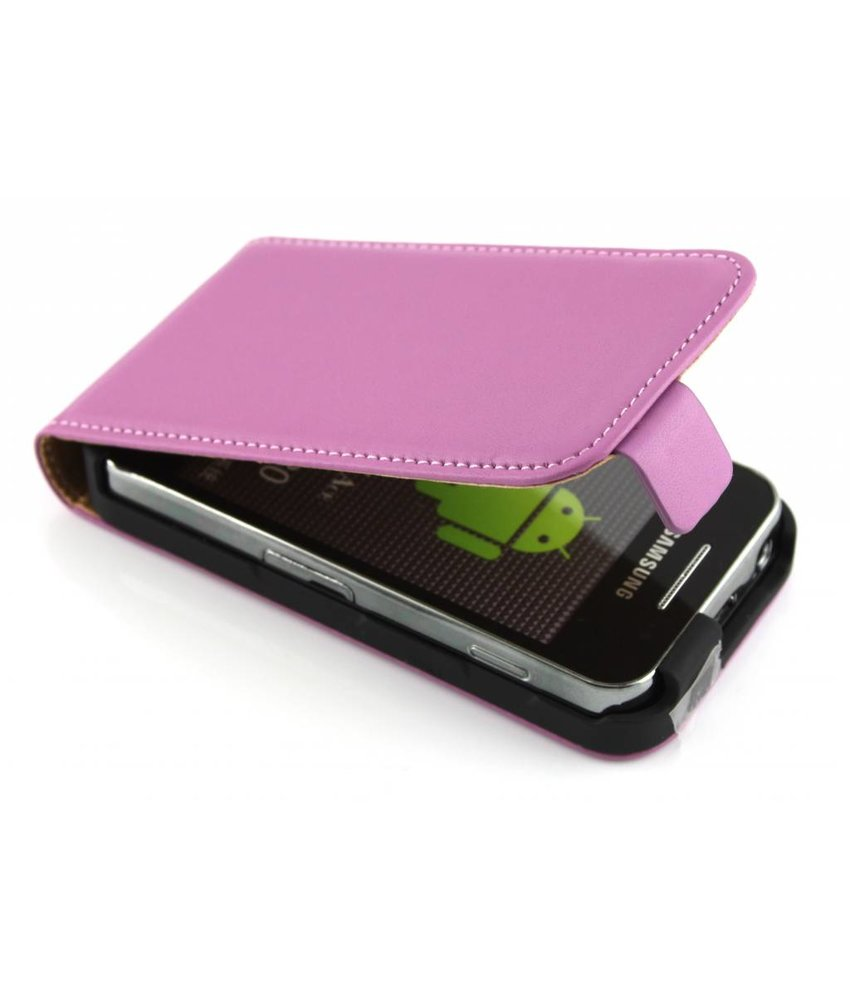 Paars luxe flipcase Samsung Galaxy Ace