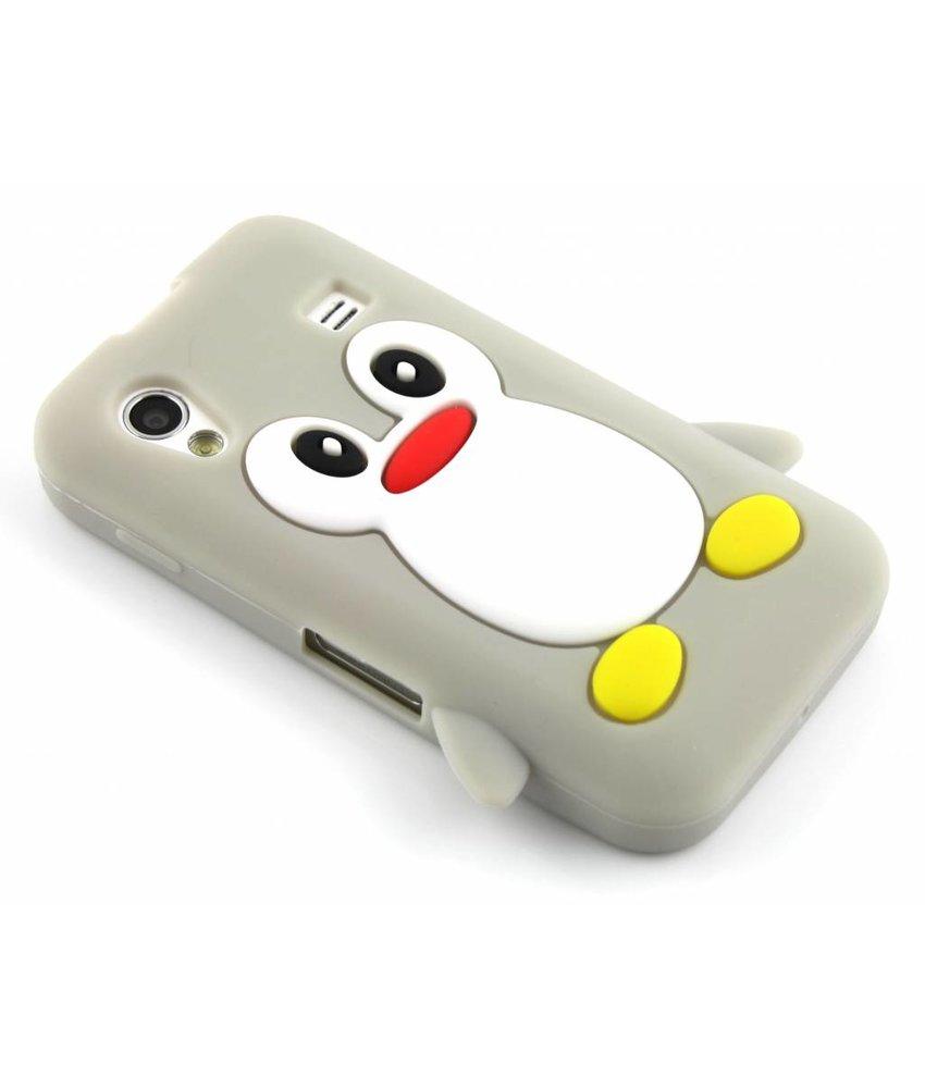 Grijs pinguin siliconen hoesje Samsung Galaxy Ace