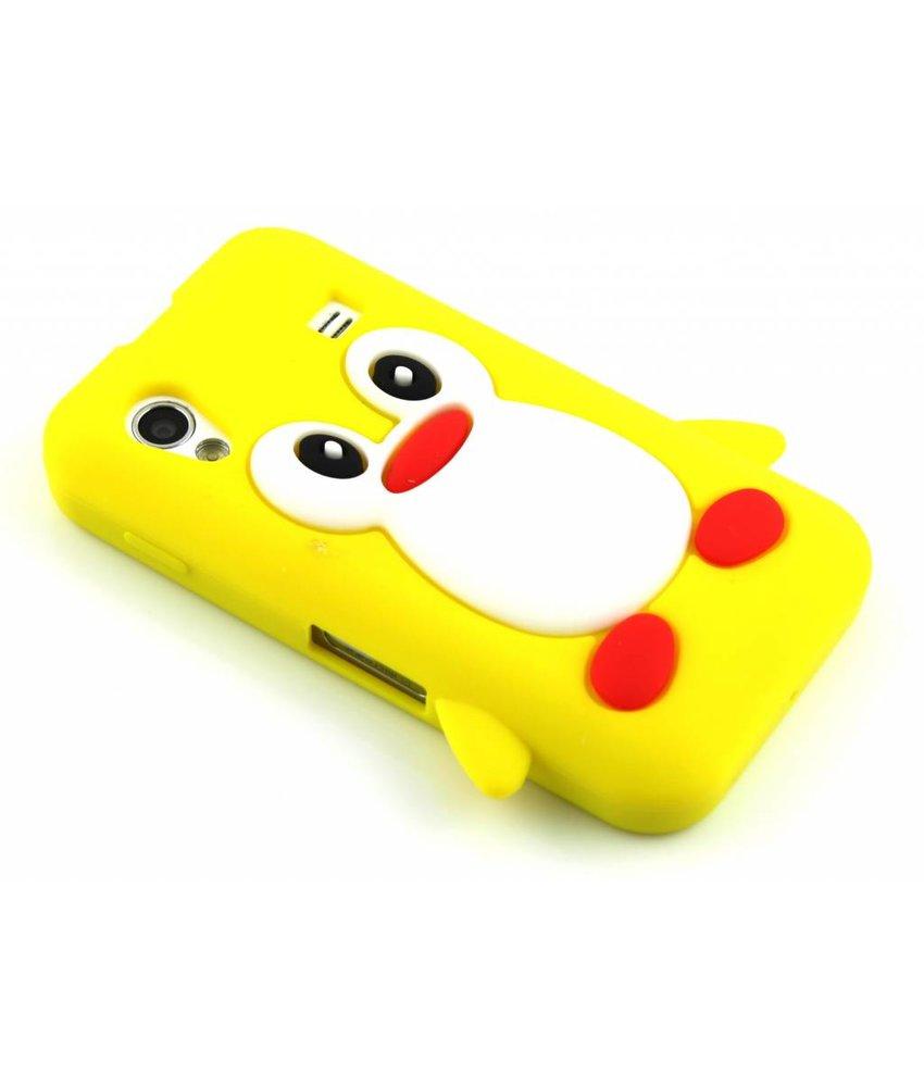 Geel pinguin siliconen hoesje Samsung Galaxy Ace