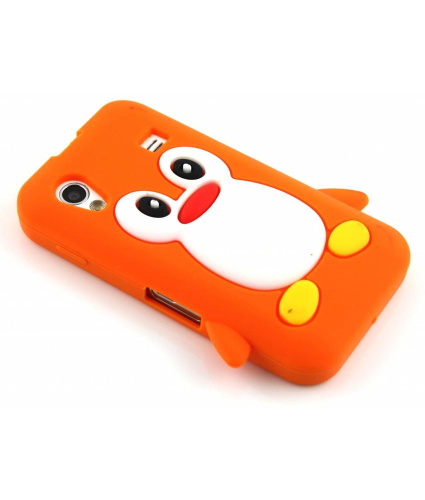 Oranje pinguin siliconen hoesje Samsung Galaxy Ace