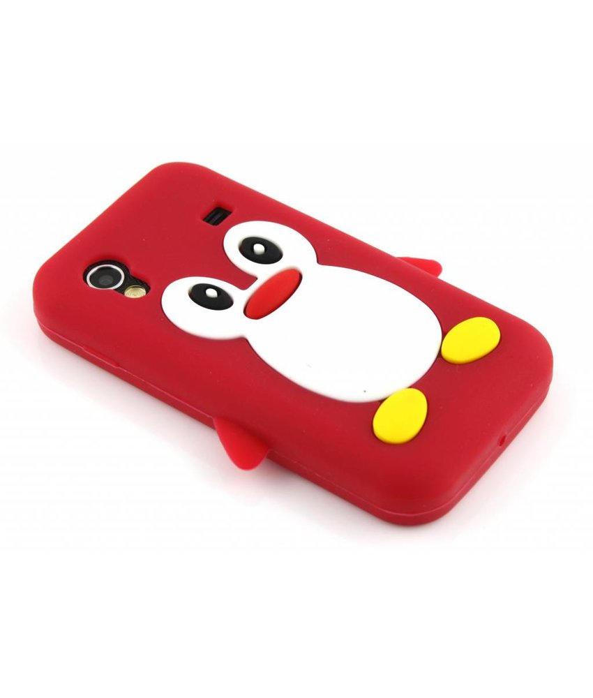 Rood pinguin siliconen hoesje Samsung Galaxy Ace