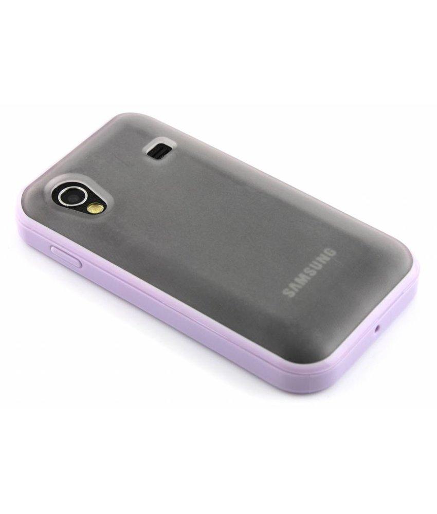 Paars hardcase met TPU rand voor Samsung Galaxy Ace