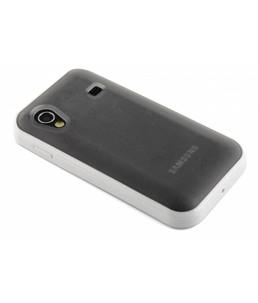 Wit hardcase met TPU rand voor Samsung Galaxy Ace