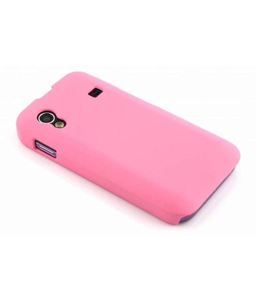 Roze effen hardcase Samsung Galaxy Ace
