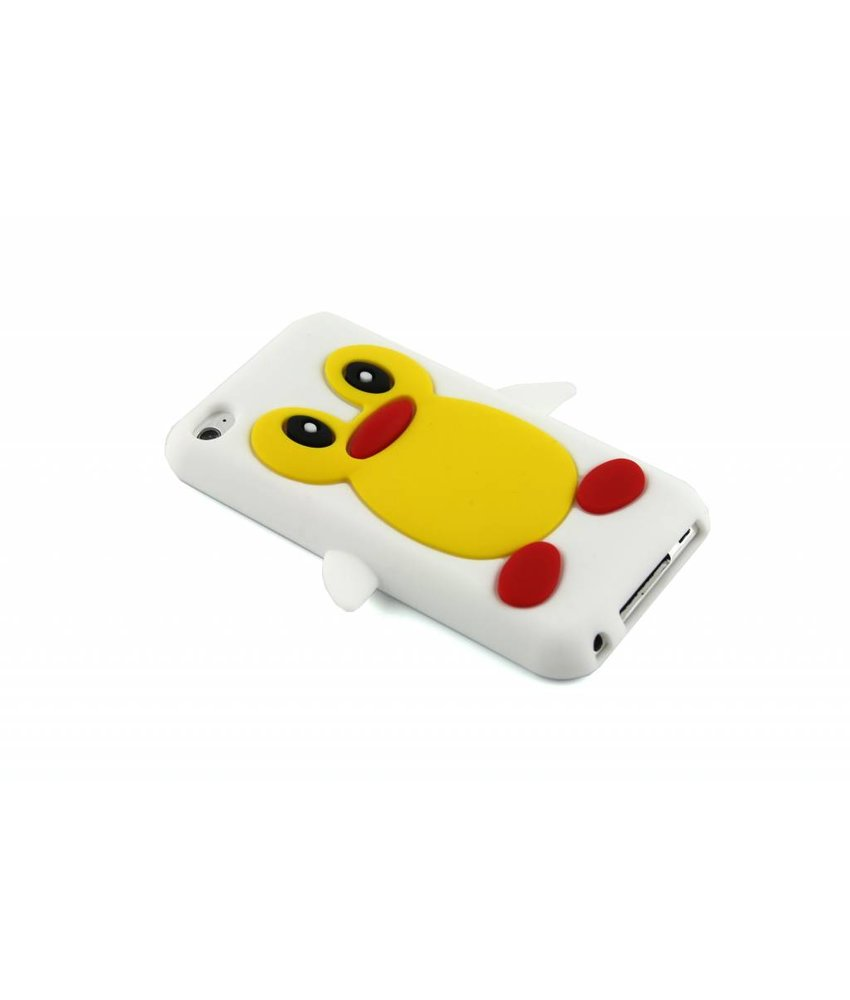 Wit pinguin siliconen hoesje iPod Touch 4g