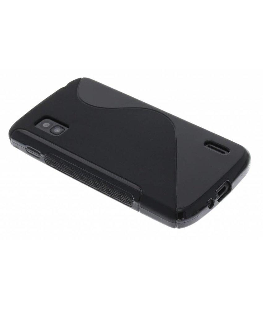 Zwart S-line TPU hoesje LG Nexus 4
