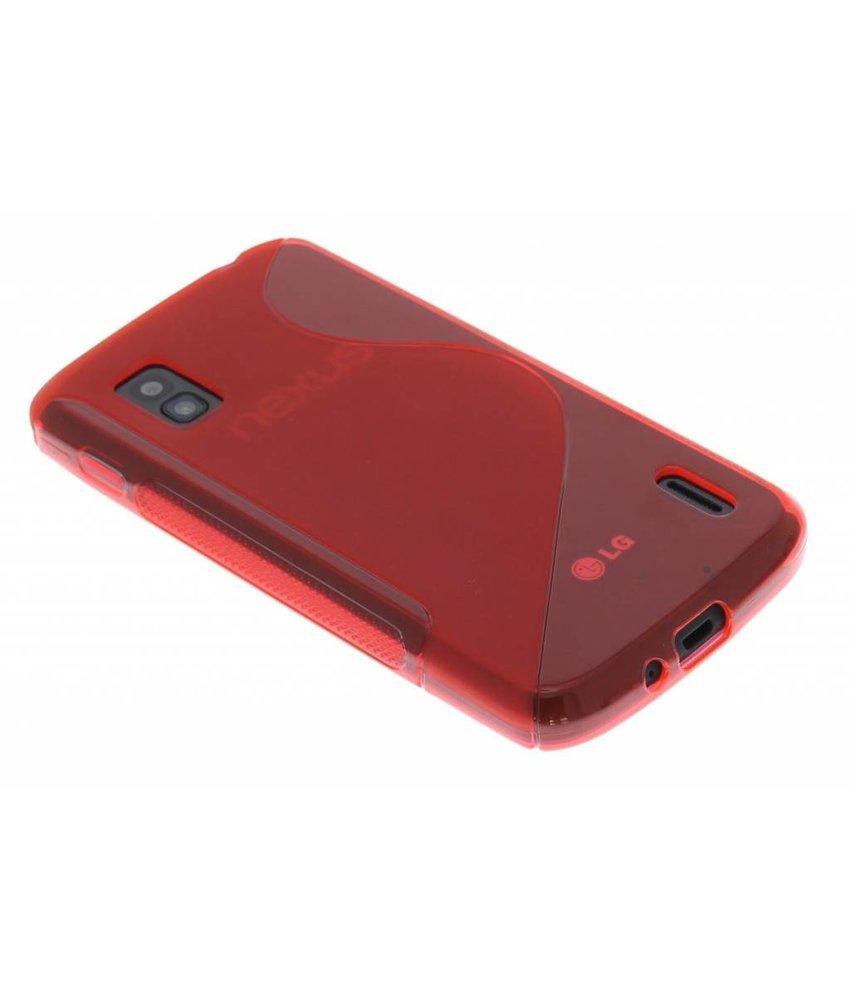 Rood S-line TPU hoesje LG Nexus 4