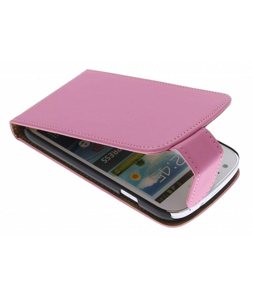 Roze classic flipcase Samsung Galaxy Express