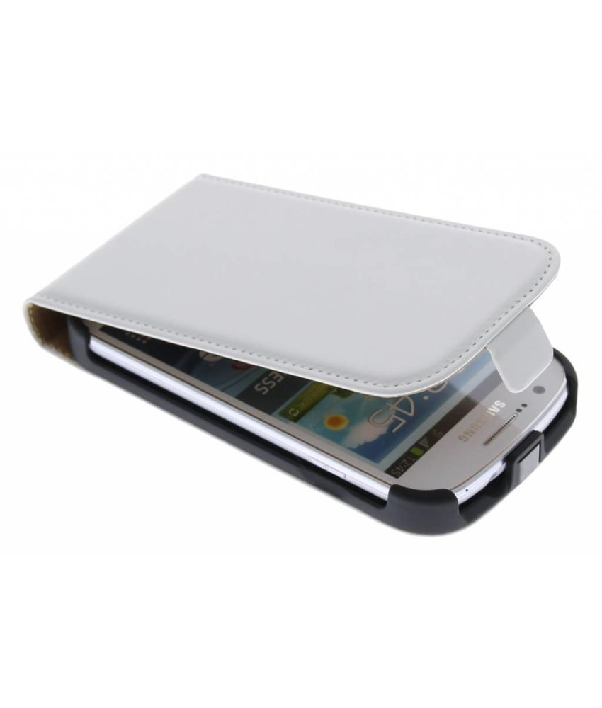 Wit luxe flipcase Samsung Galaxy Express