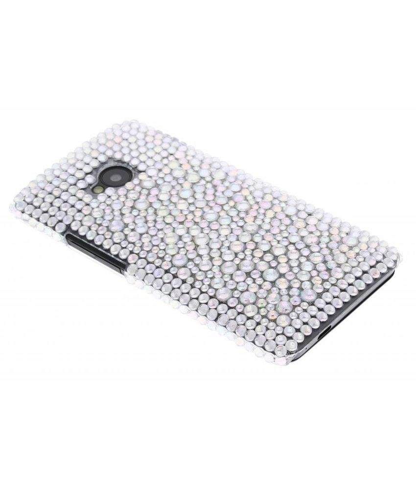 Wit Pareltjes BlingBling hardcase hoesje HTC One
