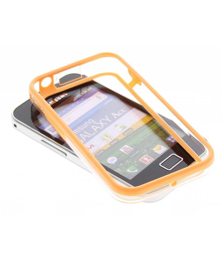 Oranje transparante bumper Samsung Galaxy Ace
