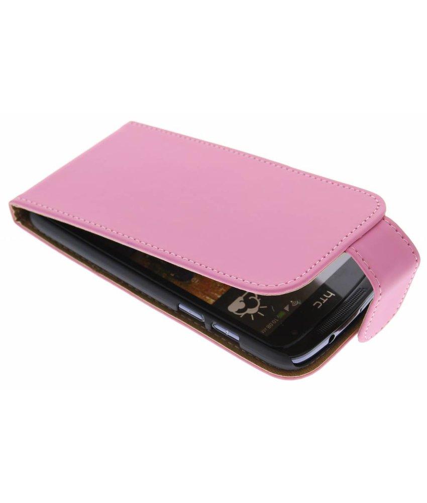 Roze classic flipcase HTC Desire 500