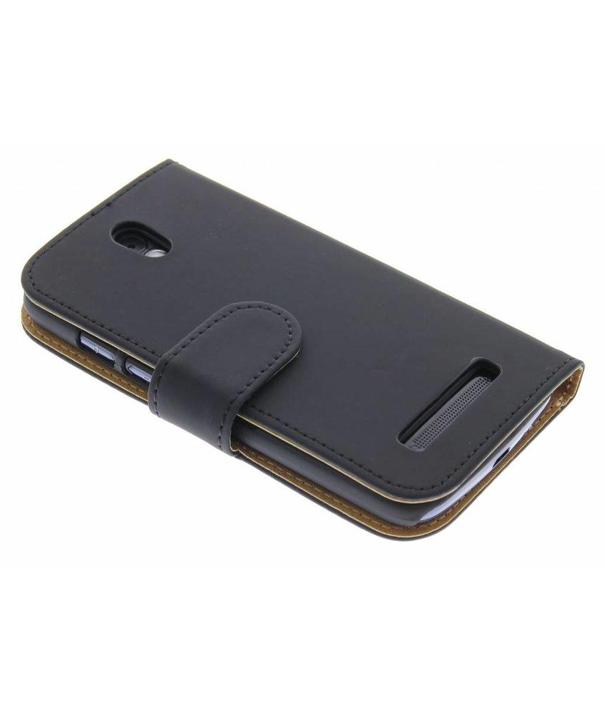 Zwart effen booktype hoes HTC Desire 500