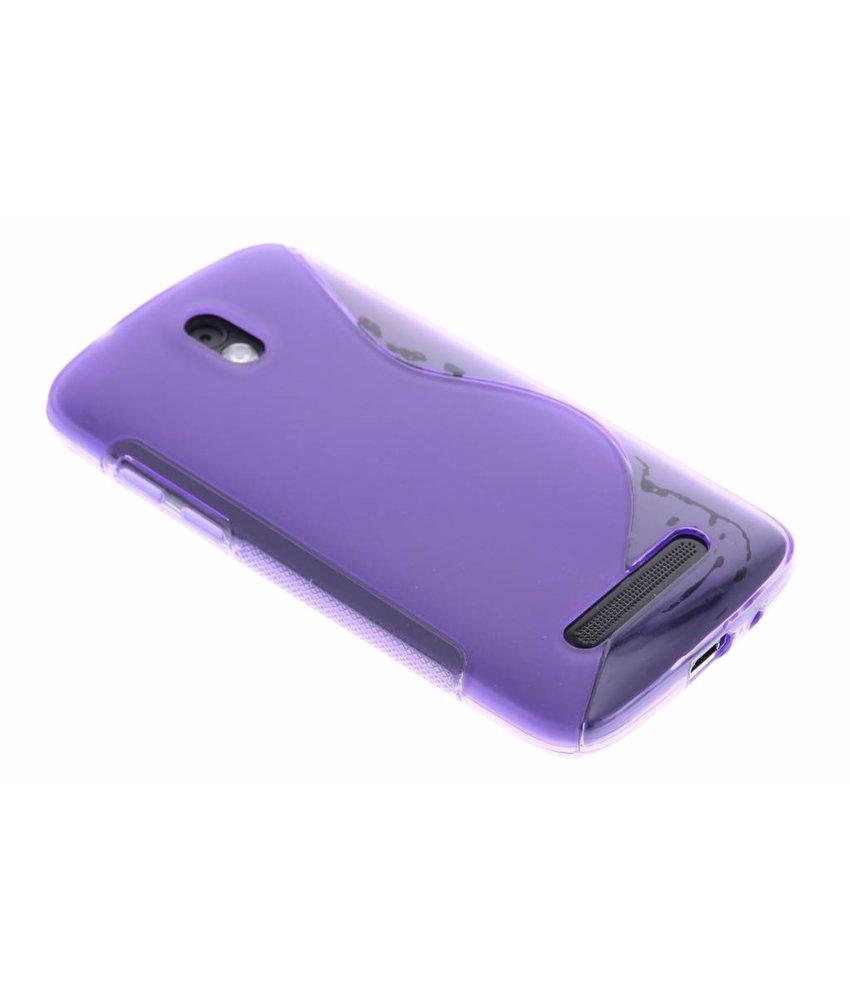 Paars S-line TPU hoesje HTC Desire 500