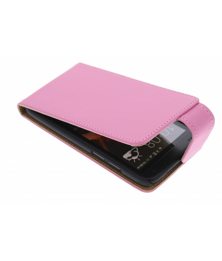 Roze classic flipcase HTC Desire 601