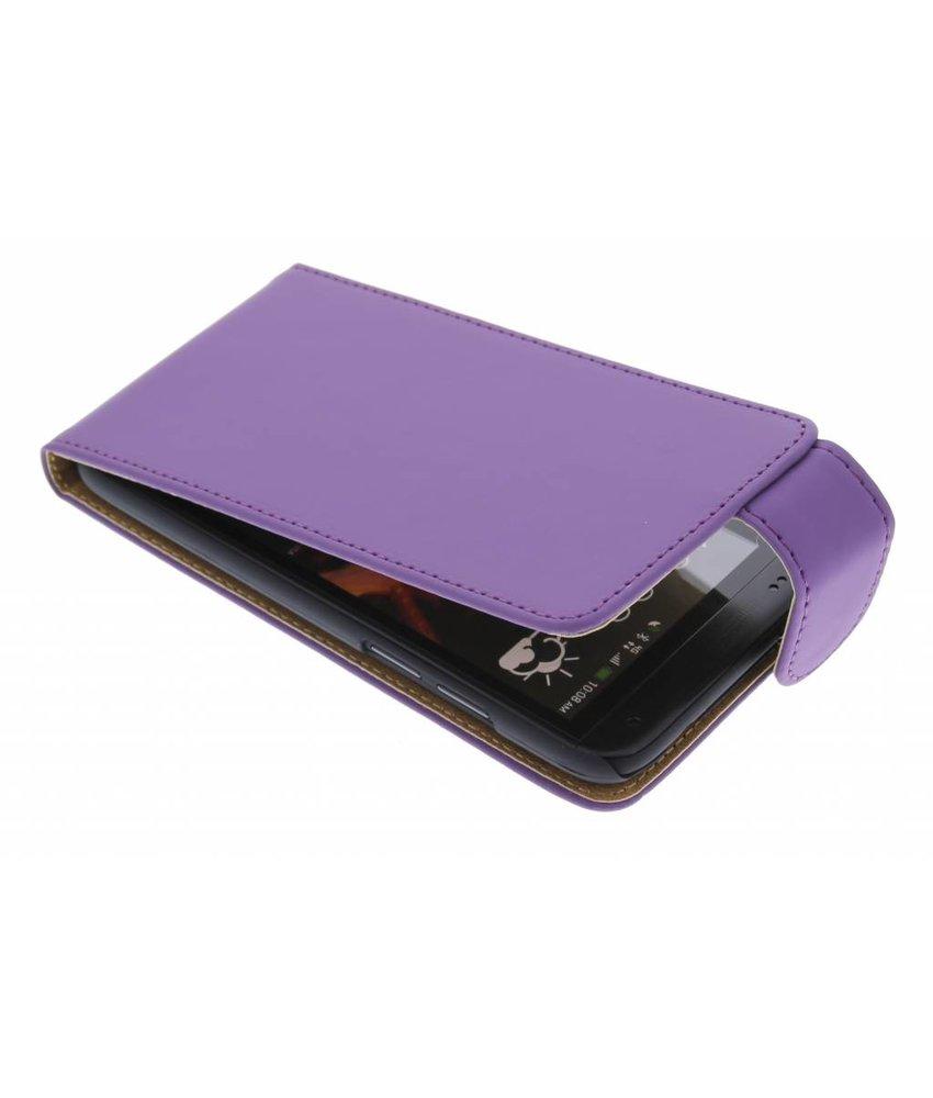 Paars classic flipcase HTC Desire 601