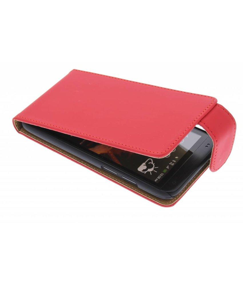 Rood classic flipcase HTC Desire 601