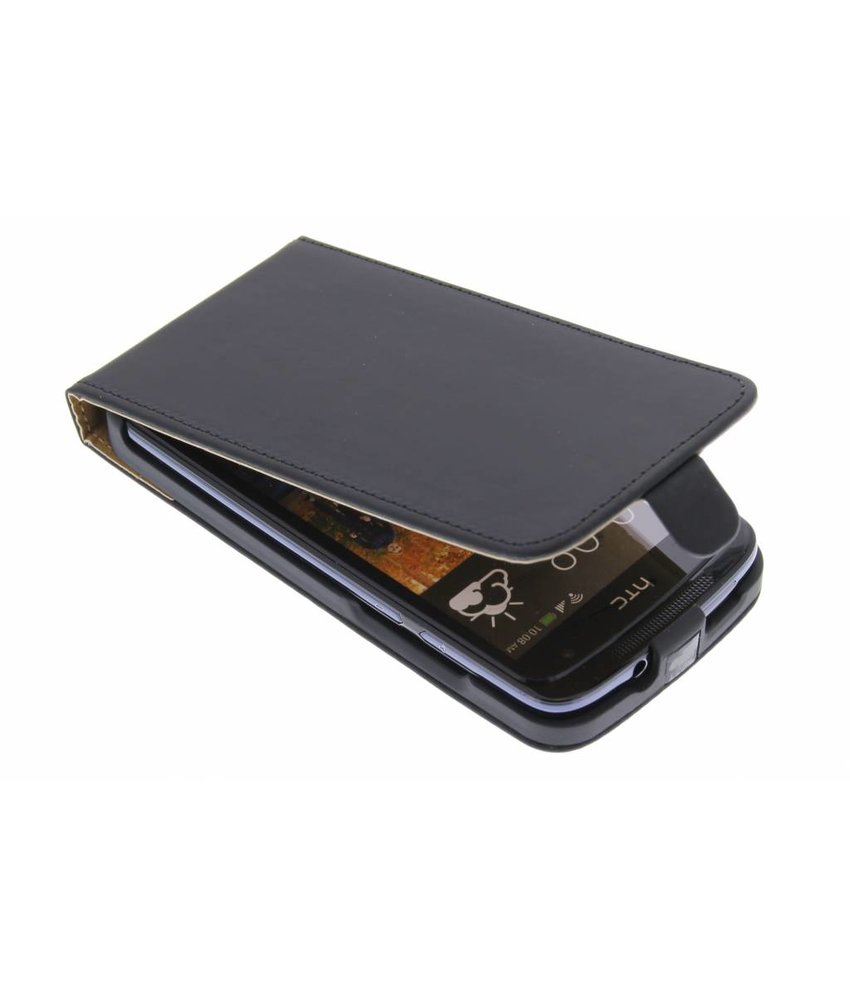 Zwart luxe flipcase HTC Desire 500