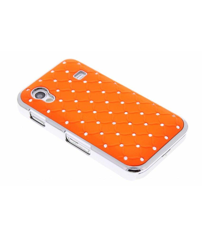 Oranje hardcase met strass-steentjes Samsung Galaxy Ace