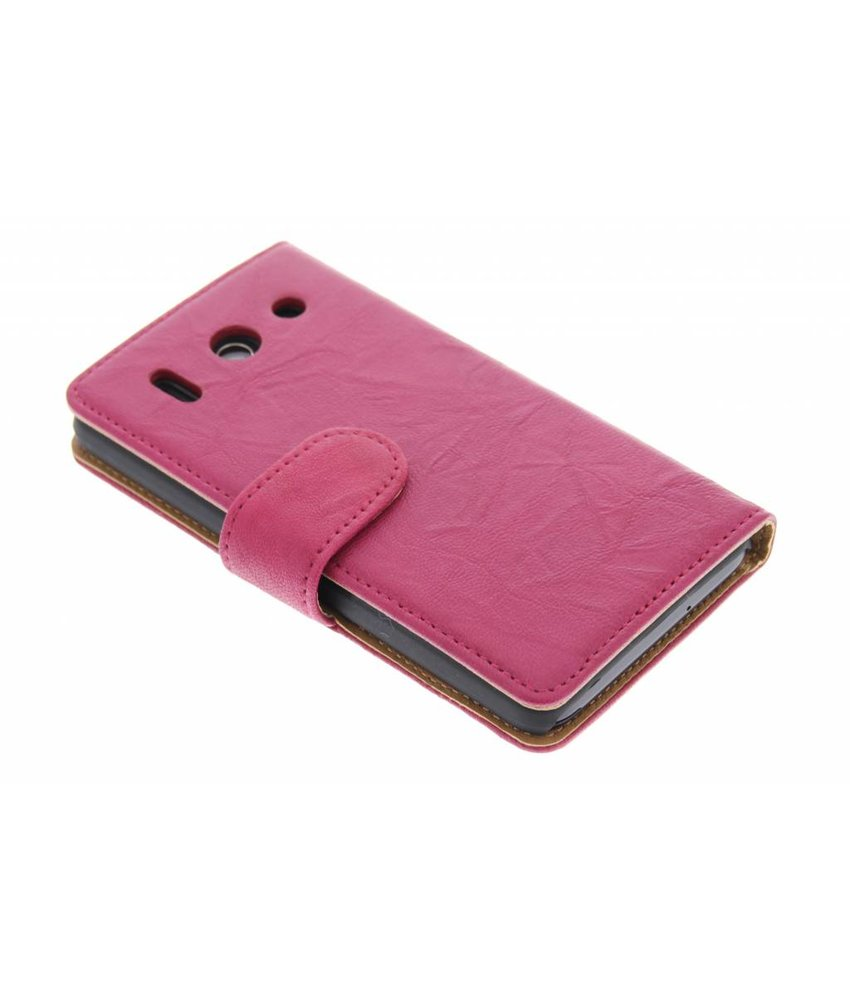 Fuchsia washed lederen booktype hoes Huawei G510