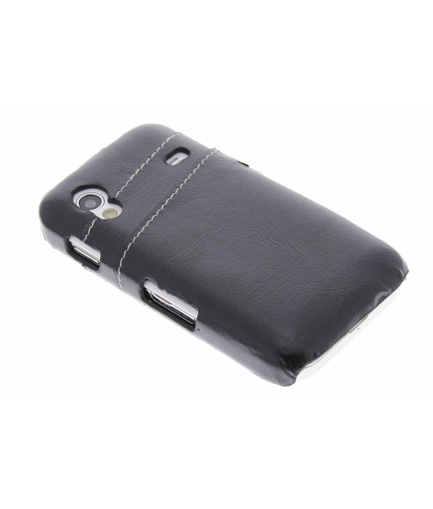 Zwart hardcase hoesje met vakjes Samsung Galaxy Ace