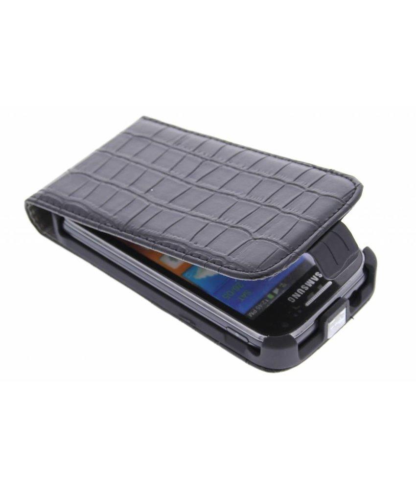 Zwart krokodil flipcase Samsung Galaxy Ace 2