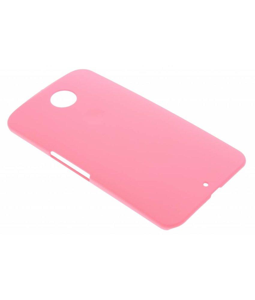 Roze effen hardcase hoesje Motorola Nexus 6