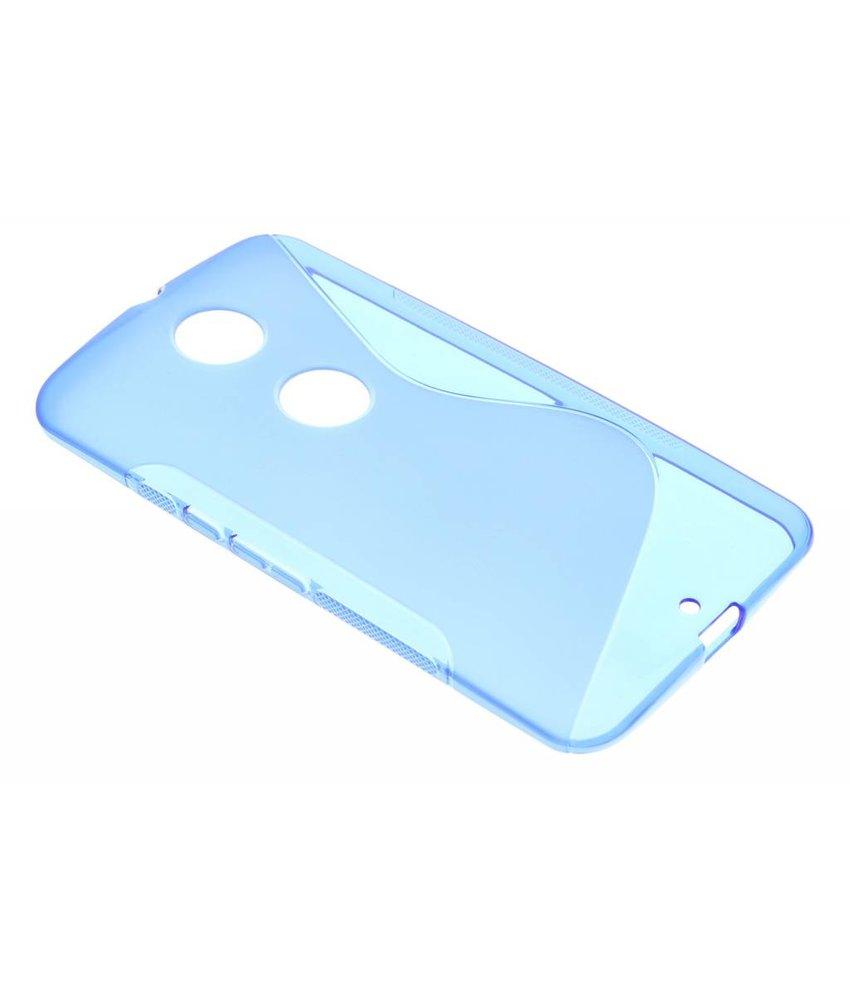 Blauw S-line TPU hoesje Motorola Nexus 6