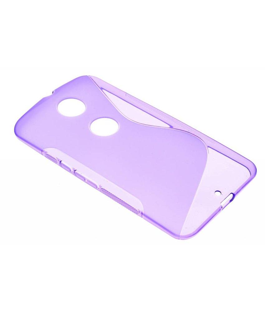 Paars S-line TPU hoesje Motorola Nexus 6