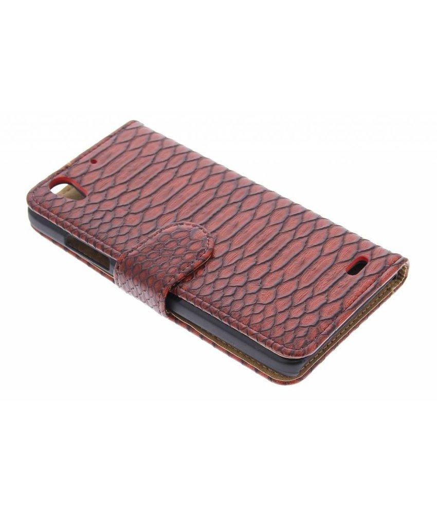 Rood slangen booktype hoes Huawei Ascend G630