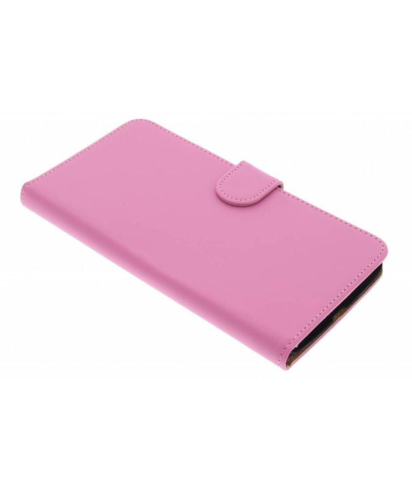 Roze effen booktype hoes Motorola Nexus 6