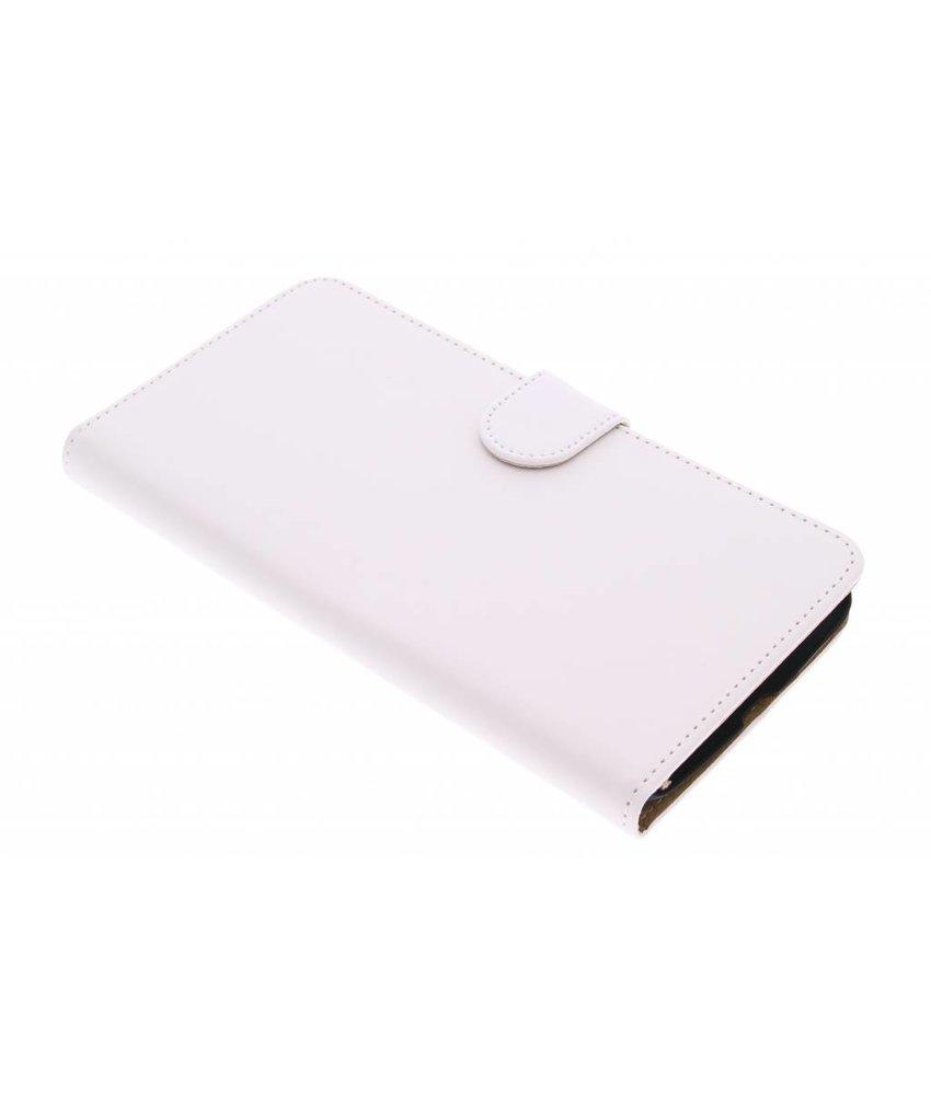 Wit effen booktype hoes Motorola Nexus 6