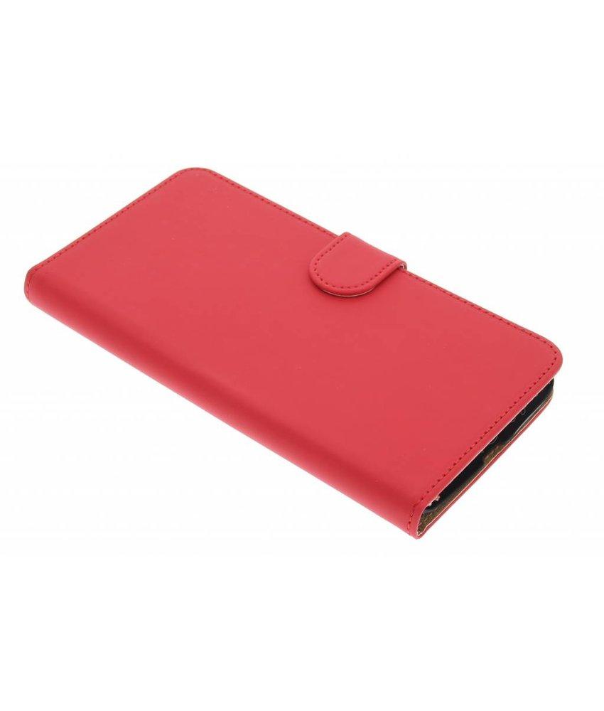 Rood effen booktype hoes Motorola Nexus 6