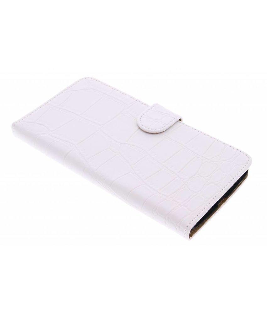 Wit krokodil booktype hoes Motorola Nexus 6