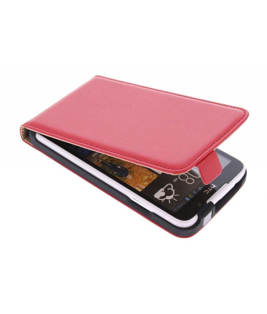 Rood luxe flipcase HTC Desire 516