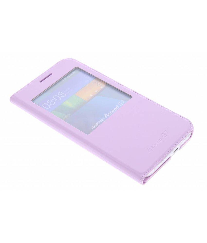 Luxe slim booktype met venster Huawei Ascend G7
