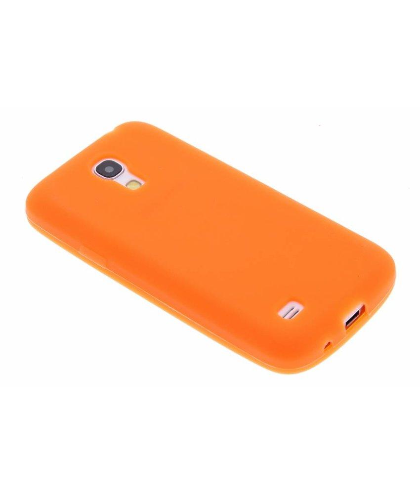 Oranje effen siliconen hoesje Samsung Galaxy S4 Mini