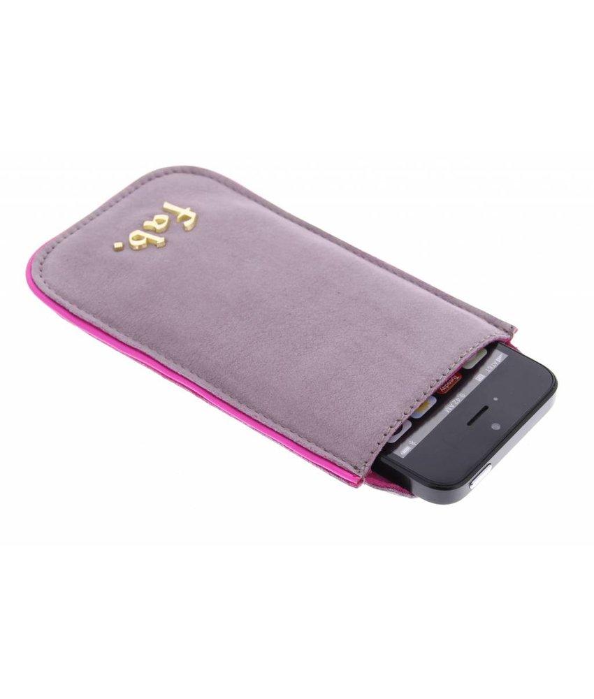 Fab. lederen phone cover iPhone 5 / 5s / SE - Lavender