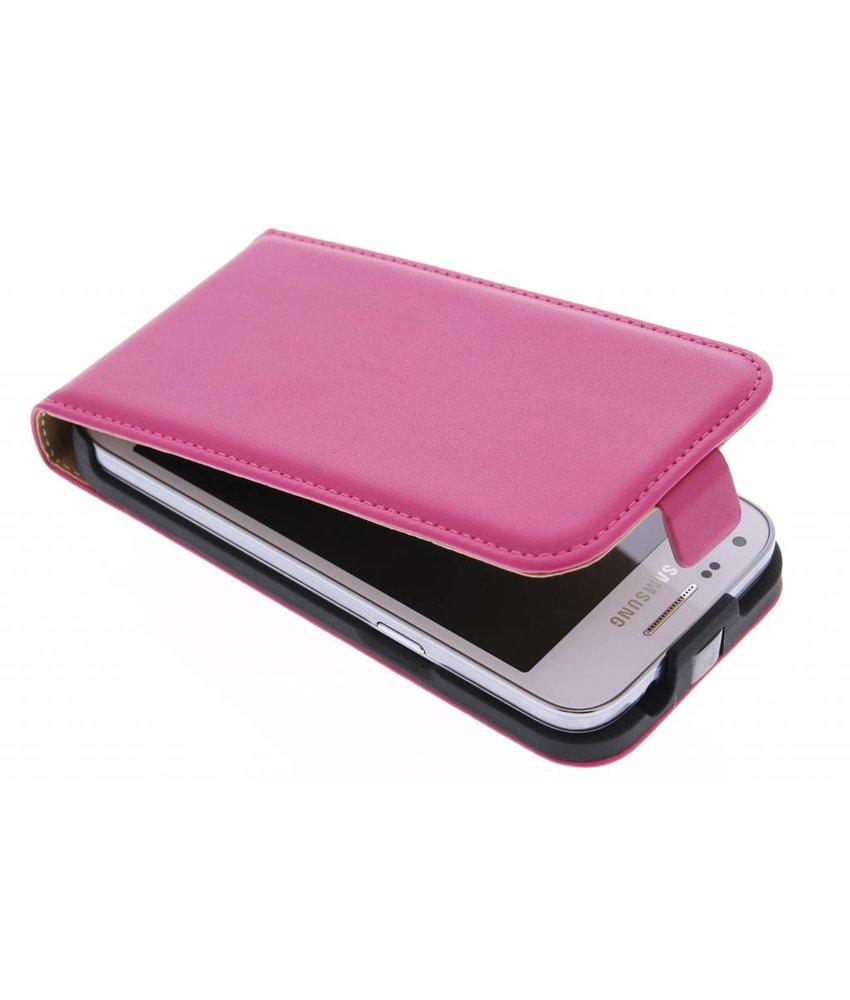 Roze luxe flipcase Samsung Galaxy Core Plus