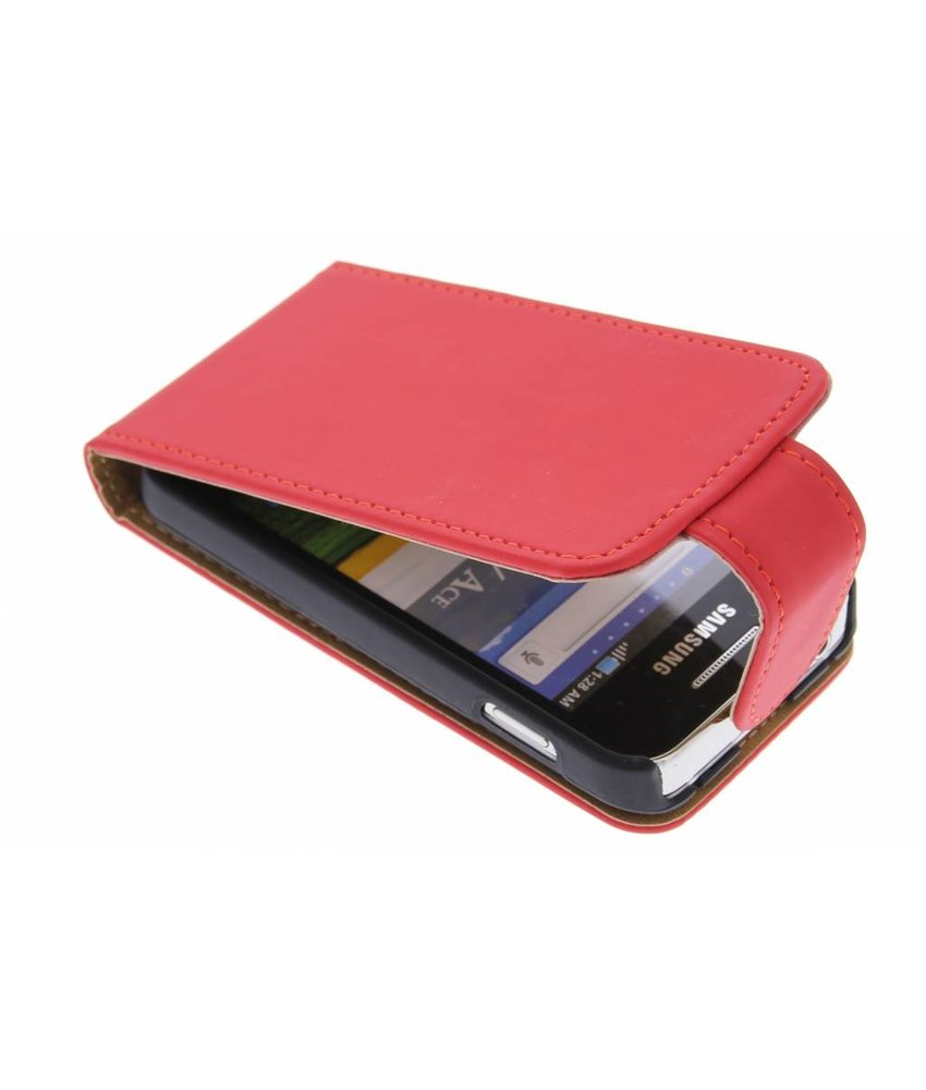 Rood classic flipcase Samsung Galaxy Ace