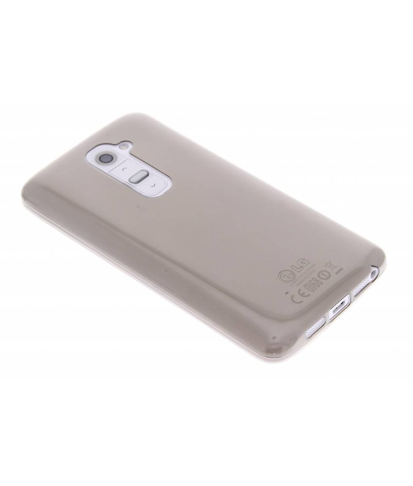Grijs ultra thin transparant TPU hoesje LG G2