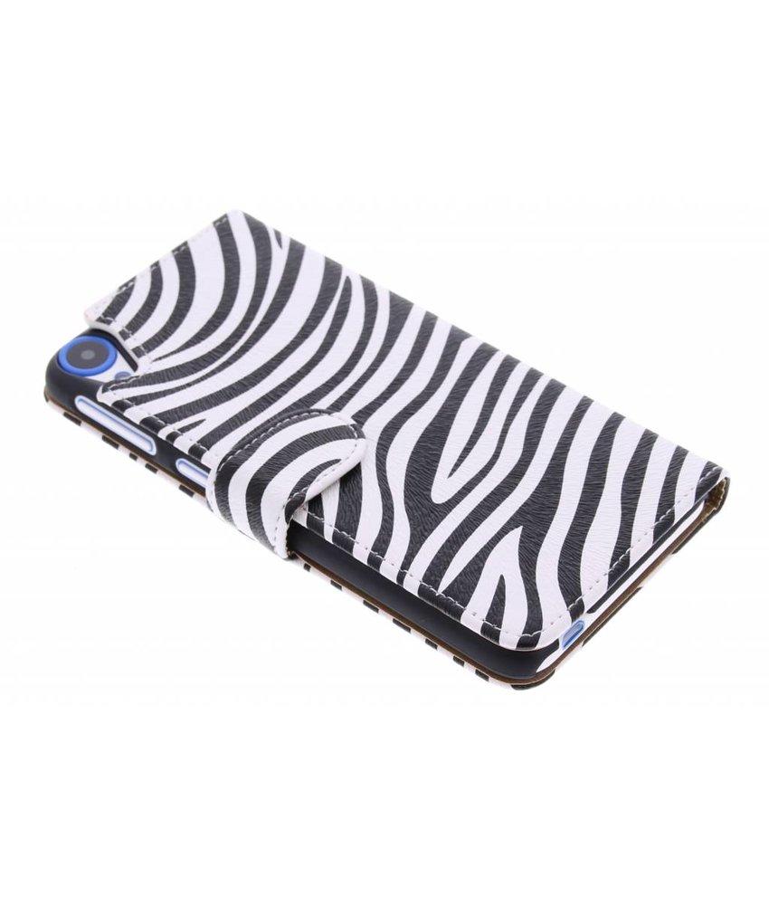 Zebra booktype hoes HTC Desire 820