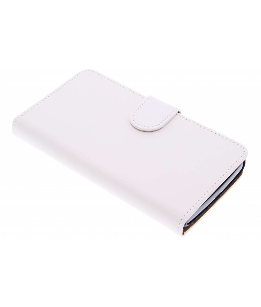 Wit effen booktype hoes LG L Bello / L80 Plus