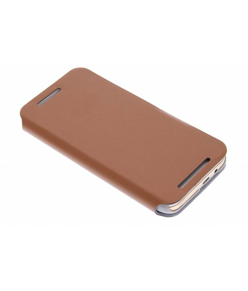 Bruin stijlvolle booktype hoes HTC One M9
