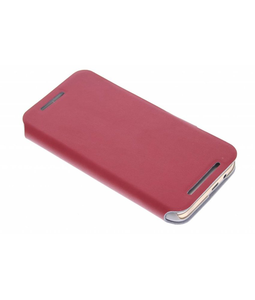 Rood stijlvolle booktype hoes HTC One M9