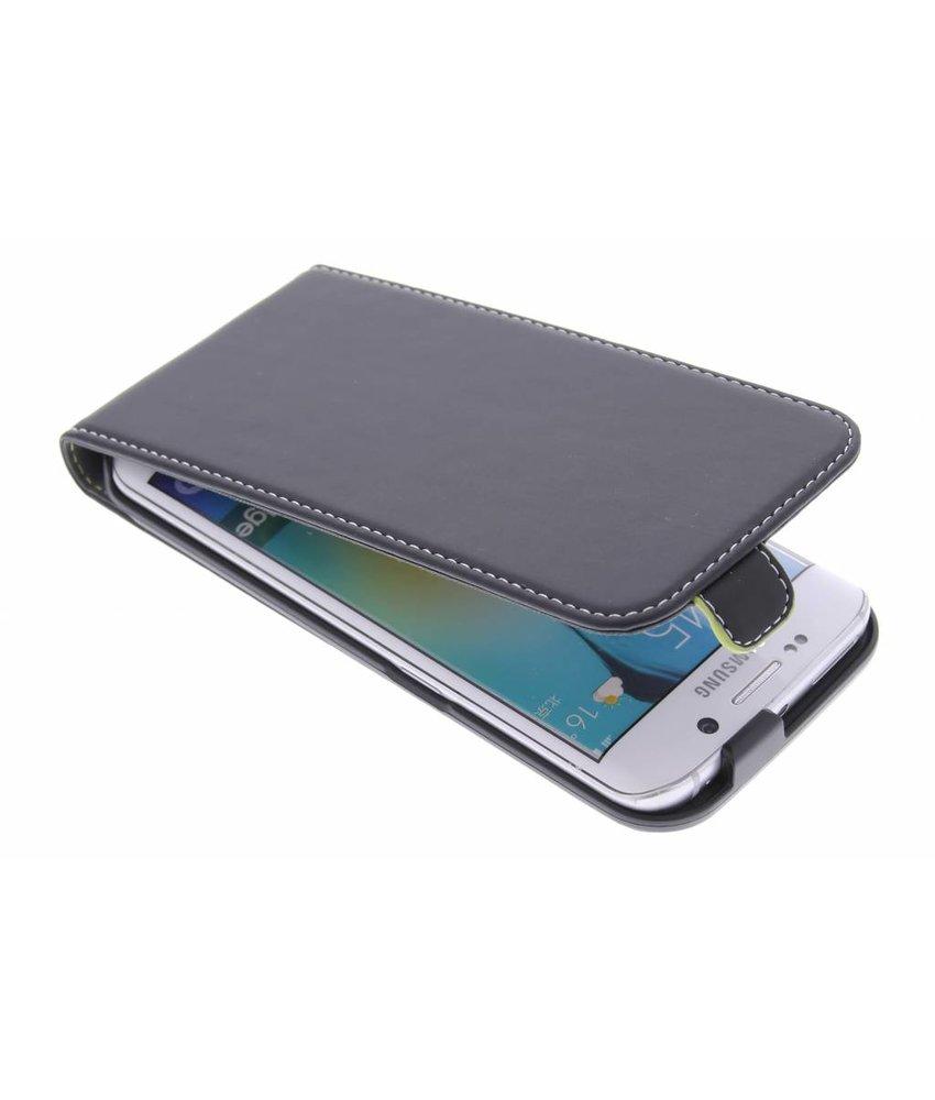 Muvit Slim flipcase Samsung Galaxy S6 Edge - zwart