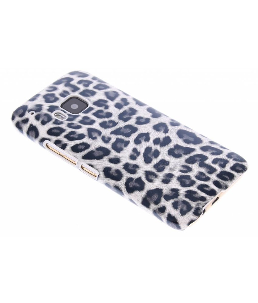 Wit luipaard hardcase hoesje HTC One M9