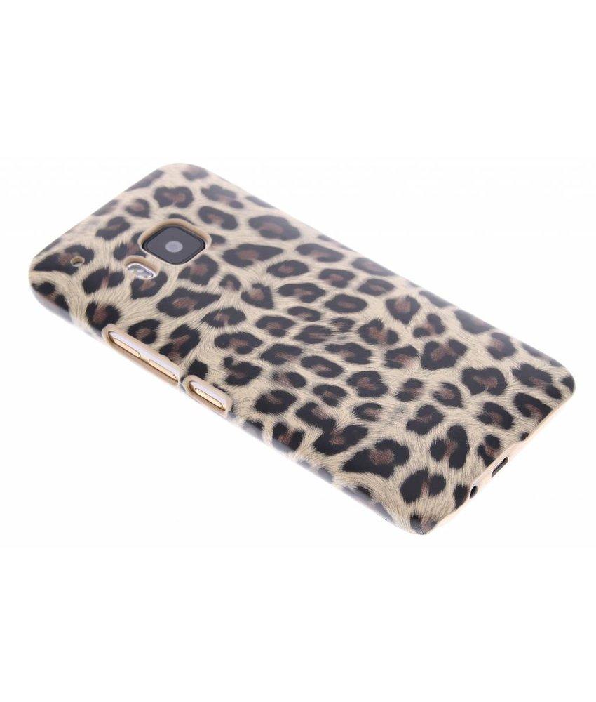 Bruin luipaard hardcase hoesje HTC One M9